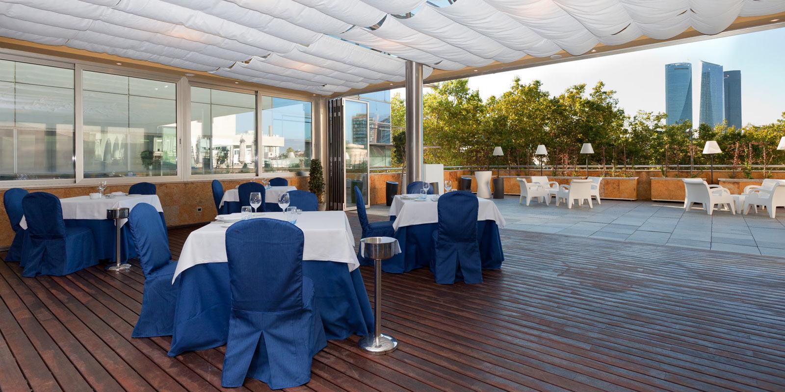 Restaurante la pir mide del hotel villamadrid web oficial - Hotel piramide madrid ...